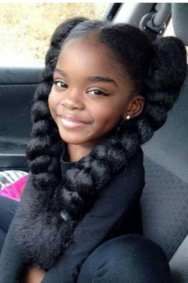 Best ideas about Natural Hairstyles For Black Kids . Save or Pin Cute Afro Hairstyles For Black Girls Now.