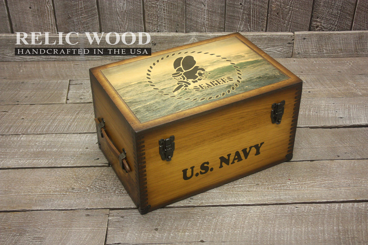 Best ideas about Navy Gift Ideas . Save or Pin Navy SeaBees Keepsake Box Now.
