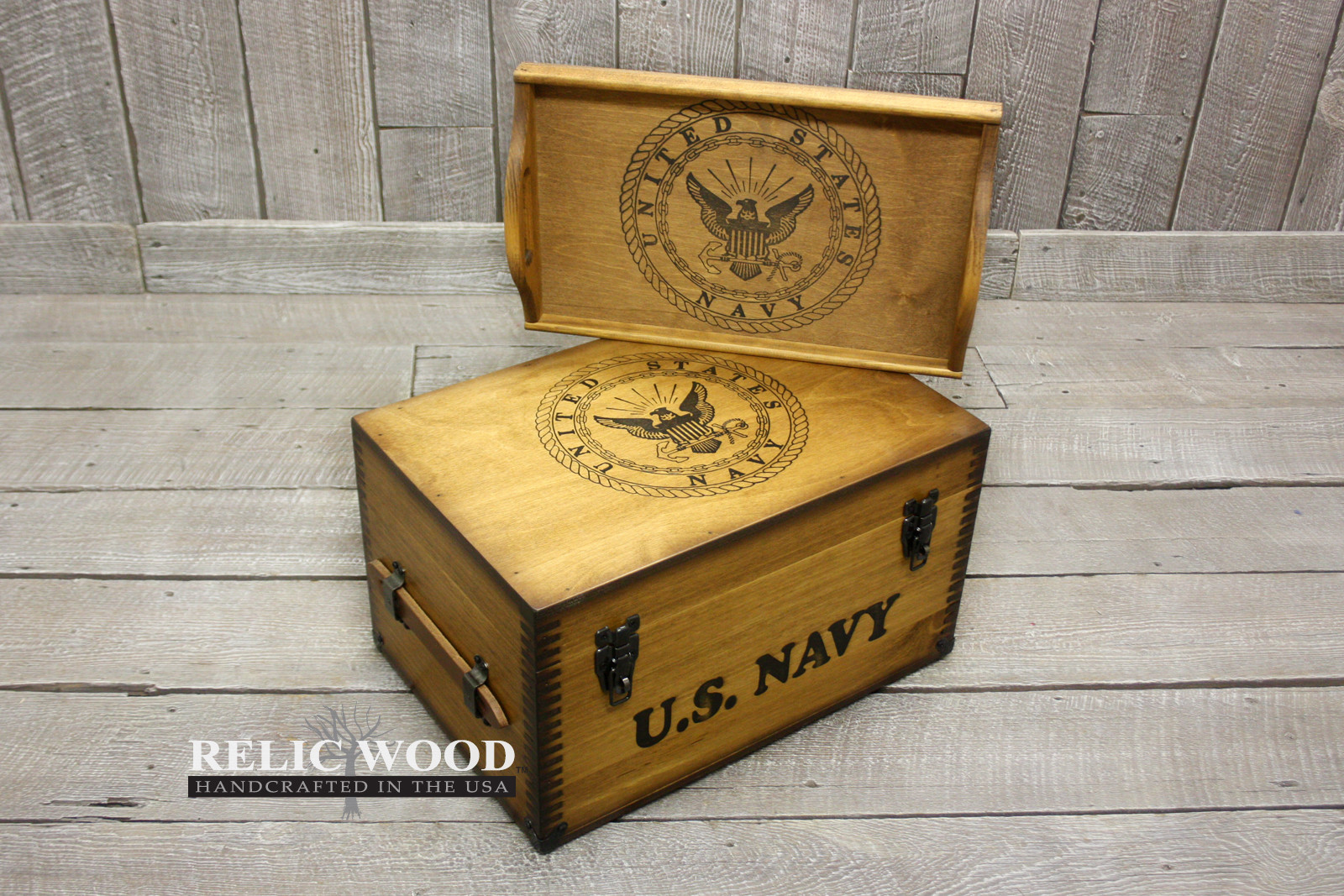Best ideas about Navy Gift Ideas . Save or Pin Navy Keepsake Footlocker Now.