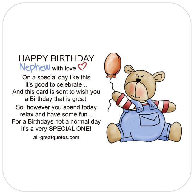 Best ideas about Nephew Birthday Quotes . Save or Pin Free Birthday Cards For line Friends Family Now.