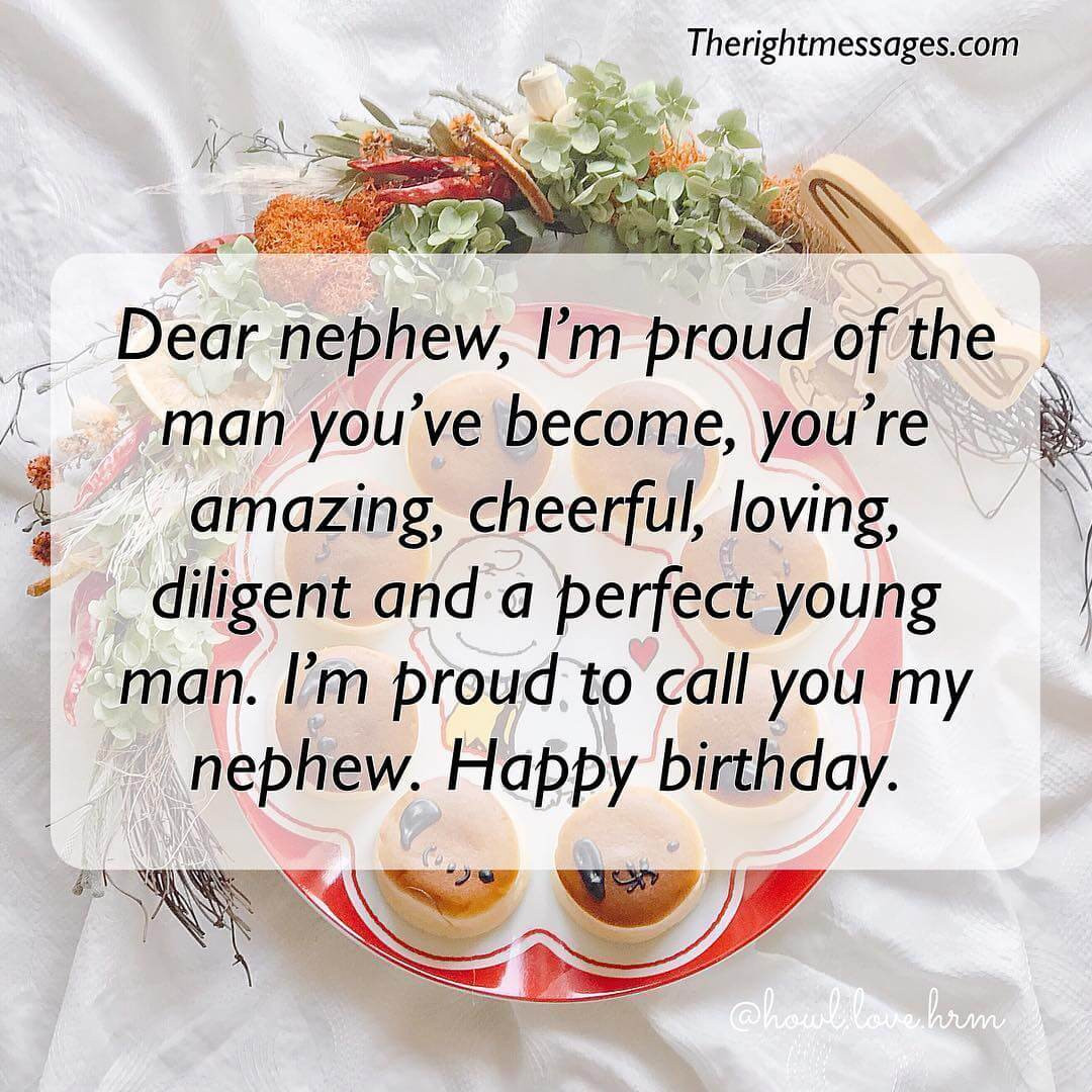 Best ideas about Nephew Birthday Quotes . Save or Pin Short & Long Birthday Wishes Messages For Nephew Now.