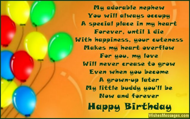 Best ideas about Nephew Birthday Quotes . Save or Pin Birthday poems for nephew – WishesMessages Now.