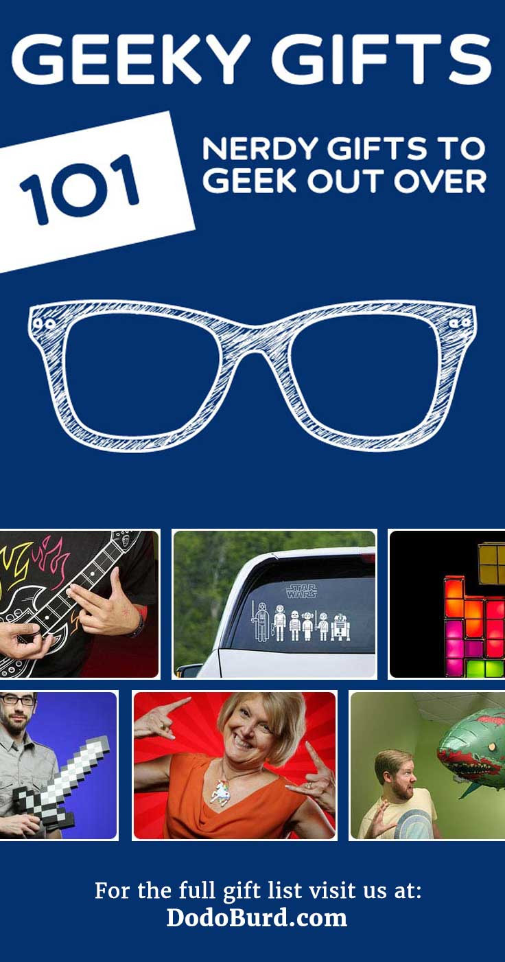 Best ideas about Nerdy Gift Ideas . Save or Pin 101 Geeky Gifts Every Nerd Will Geek Out Over Now.