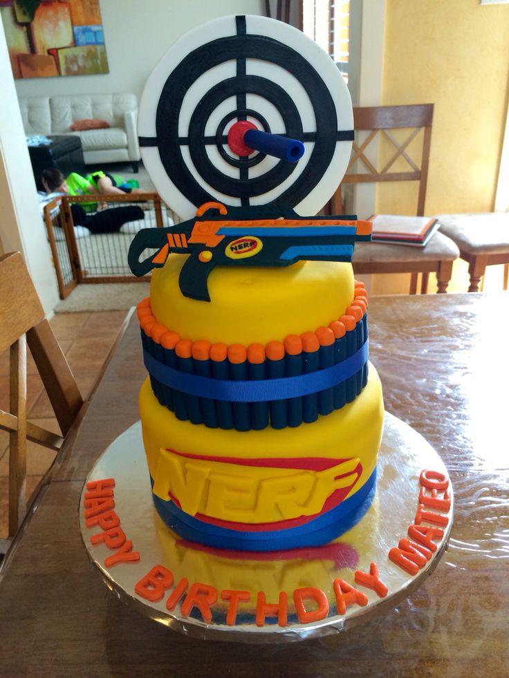 Best ideas about Nerf Gun Birthday Cake . Save or Pin 25 best ideas about Nerf Gun Cake on Pinterest Now.