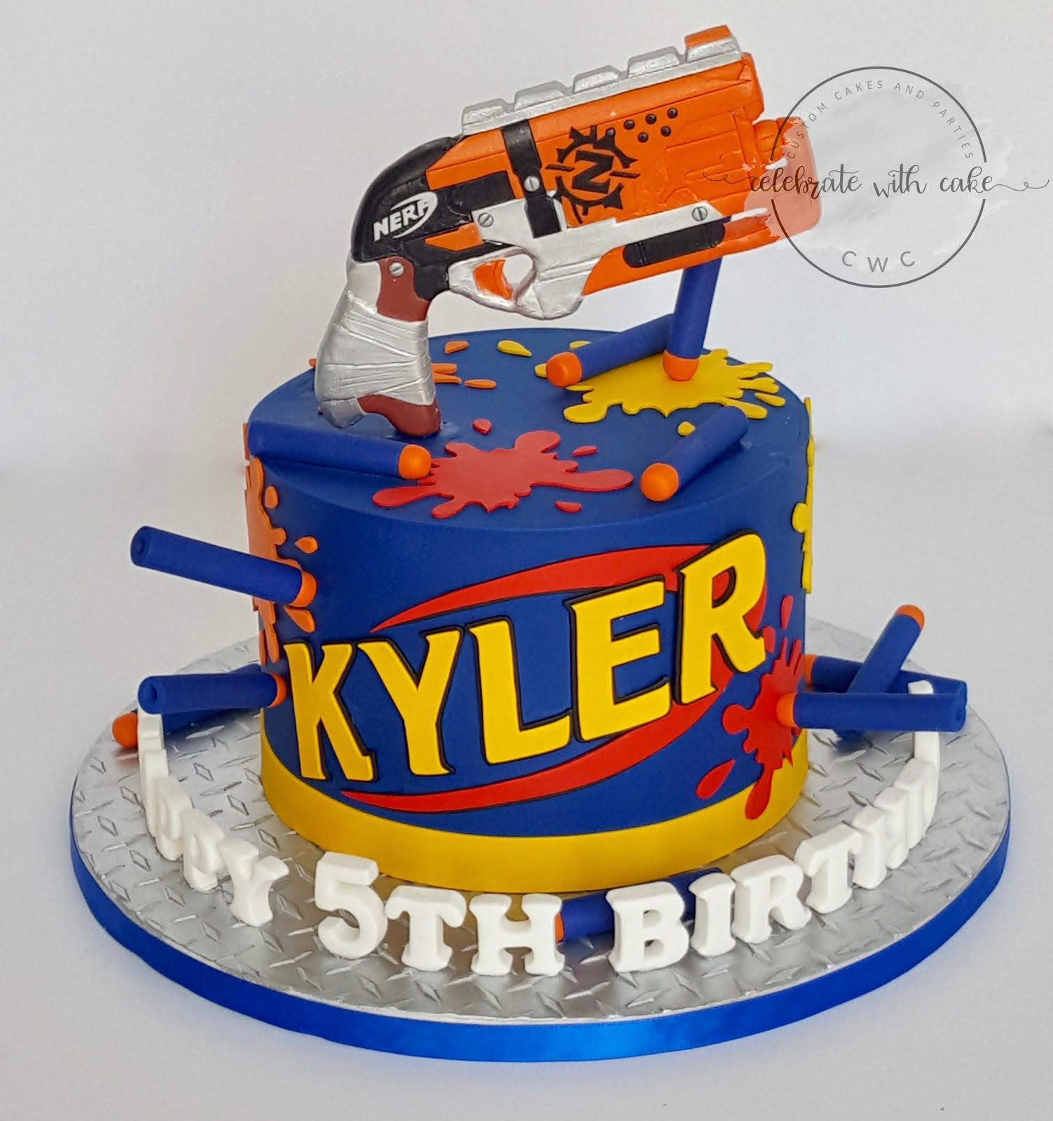 Best ideas about Nerf Gun Birthday Cake . Save or Pin Celebrate with Cake Now.