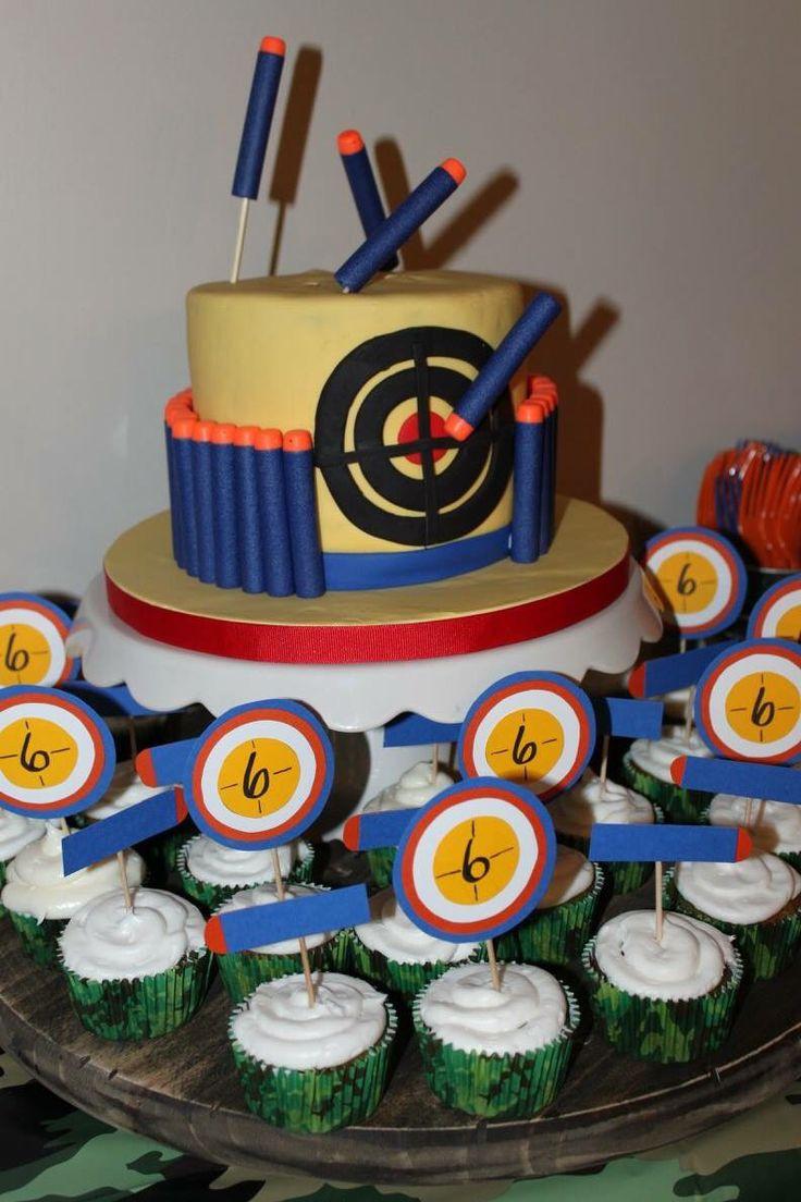 Best ideas about Nerf Gun Birthday Cake . Save or Pin 1000 ideas about Nerf Gun Cake on Pinterest Now.
