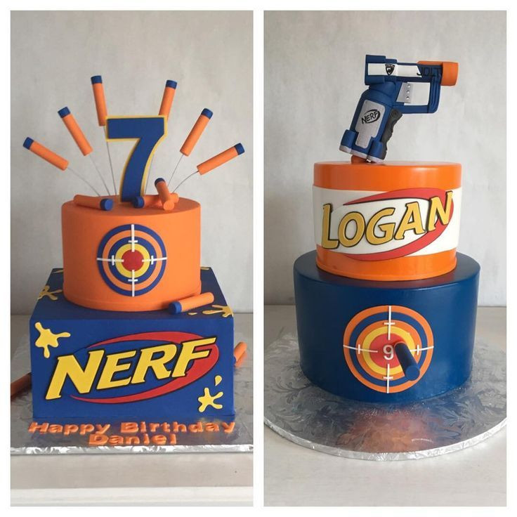 Best ideas about Nerf Gun Birthday Cake . Save or Pin Image result for nerf buttercream cake Now.