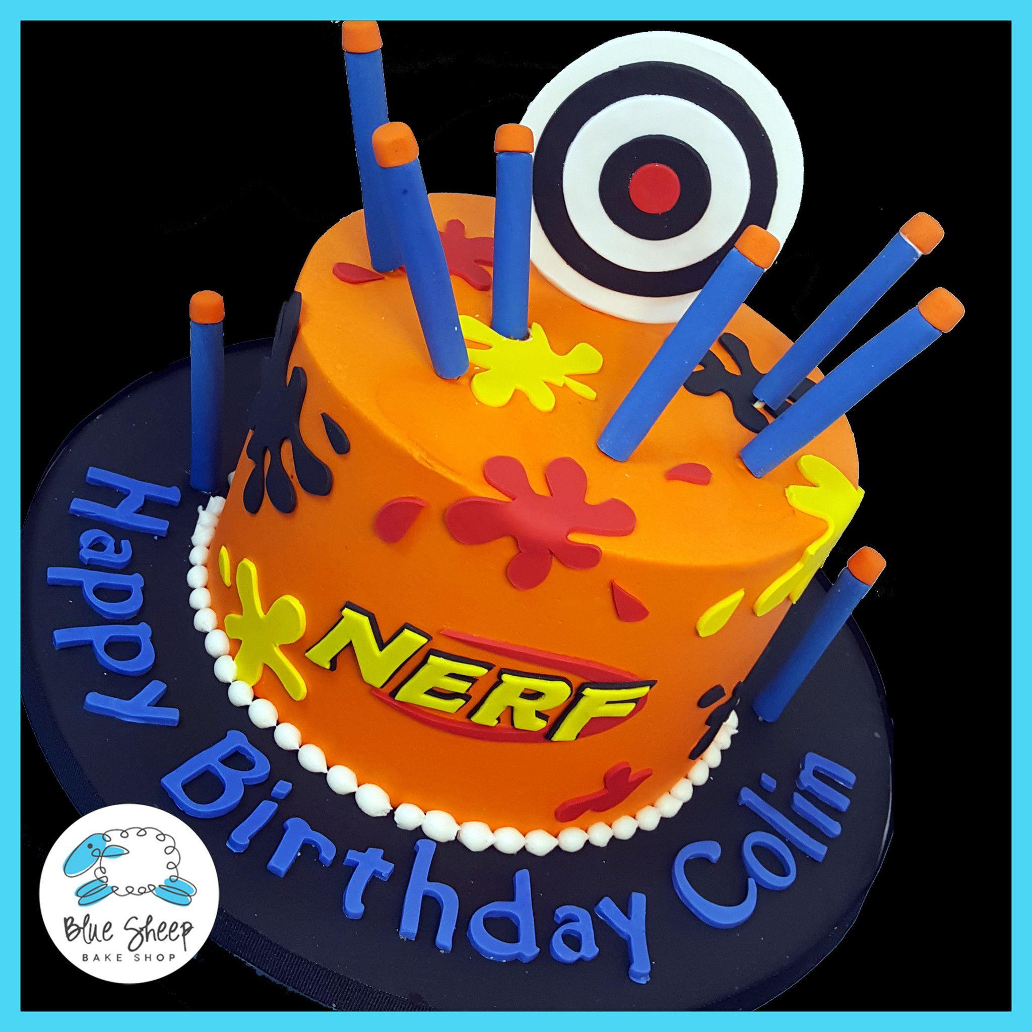 Best ideas about Nerf Gun Birthday Cake . Save or Pin nerf birthday cake nj CAKES Pinterest Now.