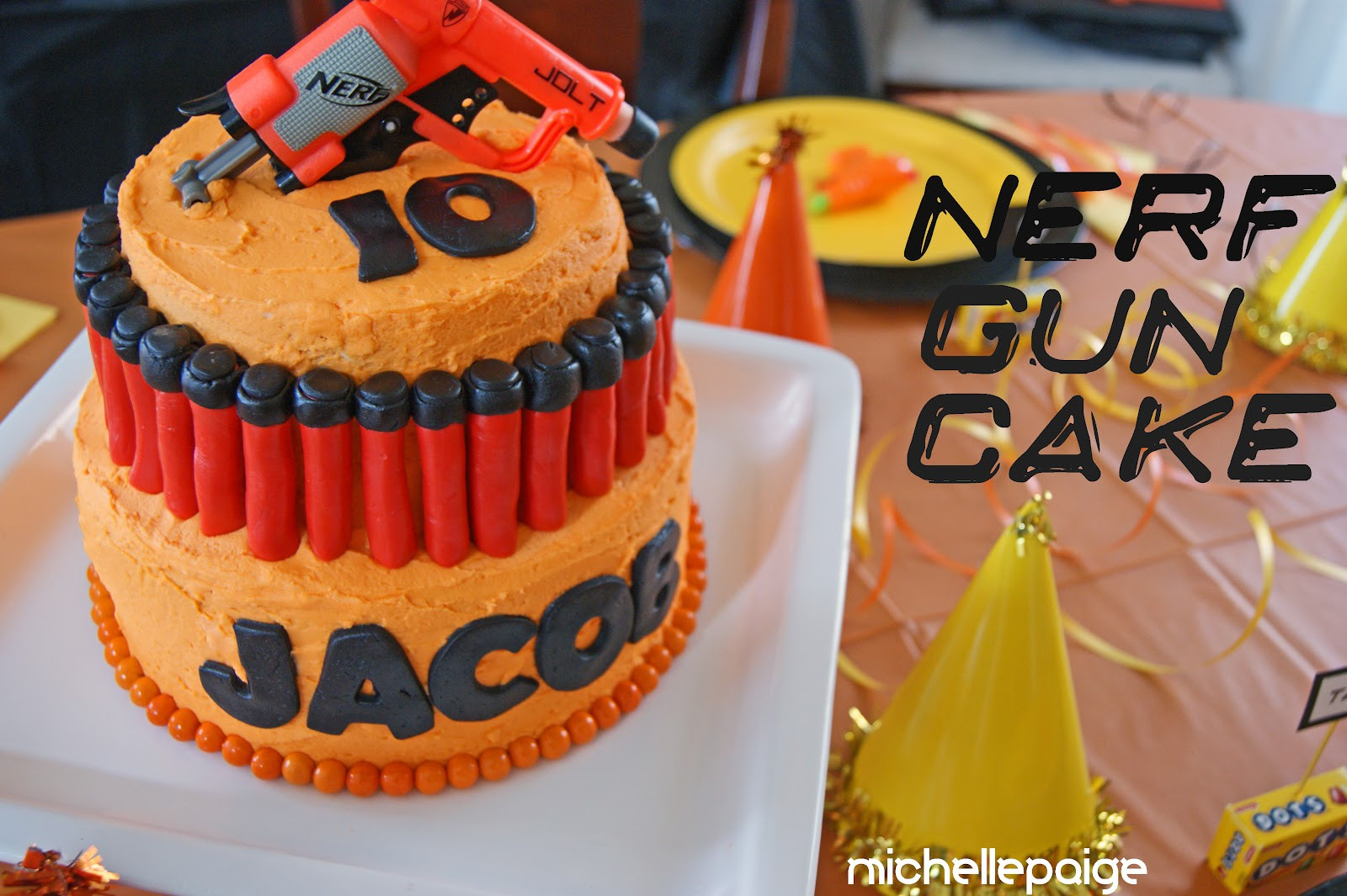 Best ideas about Nerf Gun Birthday Cake . Save or Pin michelle paige blogs Nerf Gun Party Now.