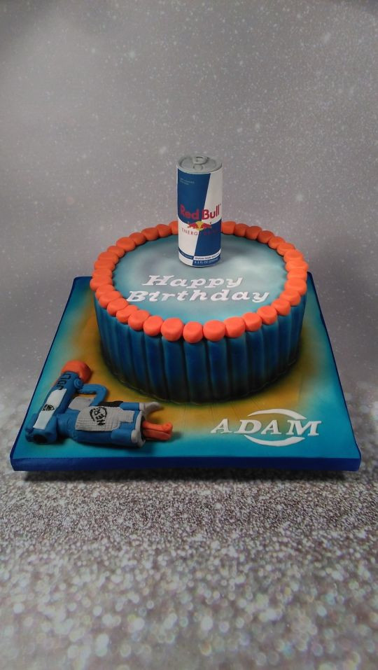 Best ideas about Nerf Gun Birthday Cake . Save or Pin Nerf gun birthday cake cake by Julie Johnson CakesDecor Now.
