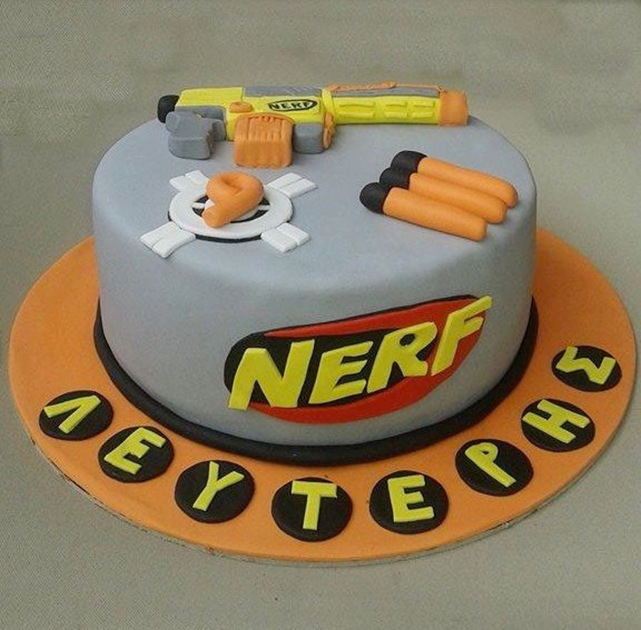 Best ideas about Nerf Gun Birthday Cake . Save or Pin Nerf Cake CakeCentral Now.