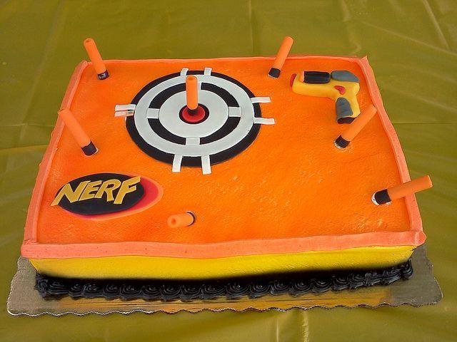 Best ideas about Nerf Gun Birthday Cake . Save or Pin Nerf Gun Cake on Pinterest Now.