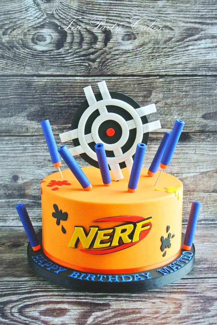 Best ideas about Nerf Gun Birthday Cake . Save or Pin Nerf cake Cakes with Character Pinterest Now.