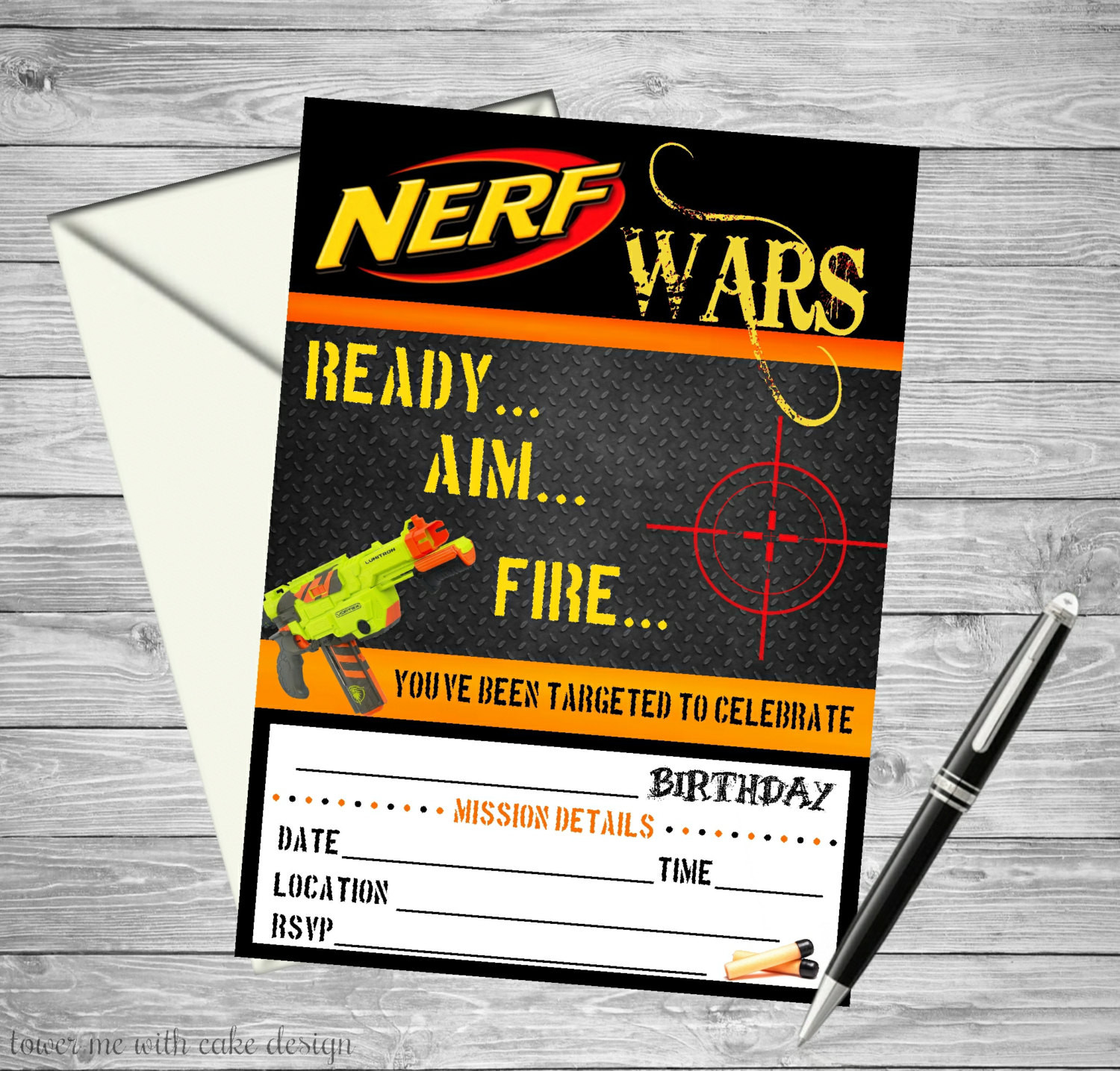 Best ideas about Nerf War Birthday Party Invitations . Save or Pin Mermaid Under The Sea Printable Birthday by towermewithcake Now.