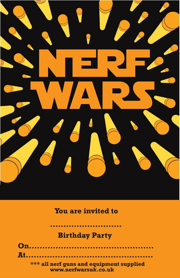 Best ideas about Nerf War Birthday Party Invitations . Save or Pin Nerf War Birthday Party Invitation Templates Now.