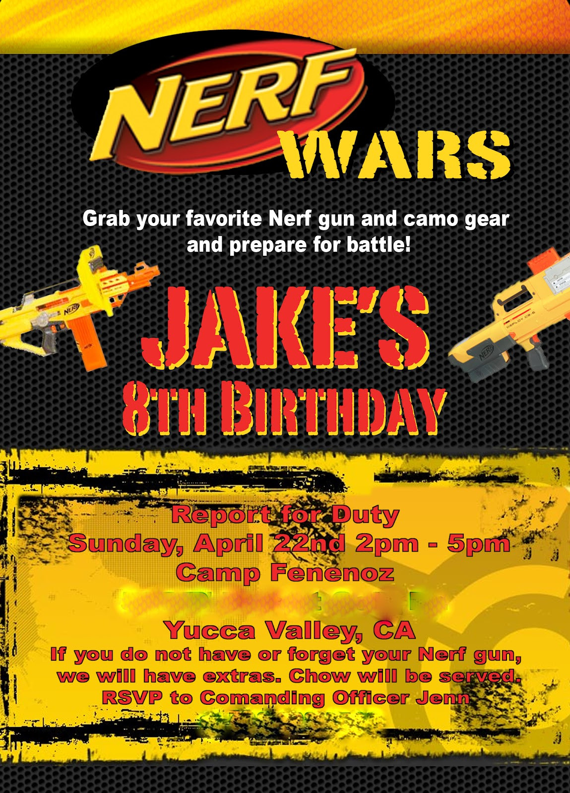 Best ideas about Nerf War Birthday Party Invitations . Save or Pin Staying in touch with the Funny Noses Nerf Wars birthday Now.