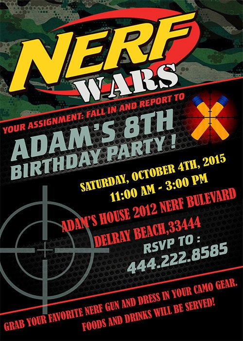 Best ideas about Nerf War Birthday Party Invitations . Save or Pin 85 best Nerf images on Pinterest Now.