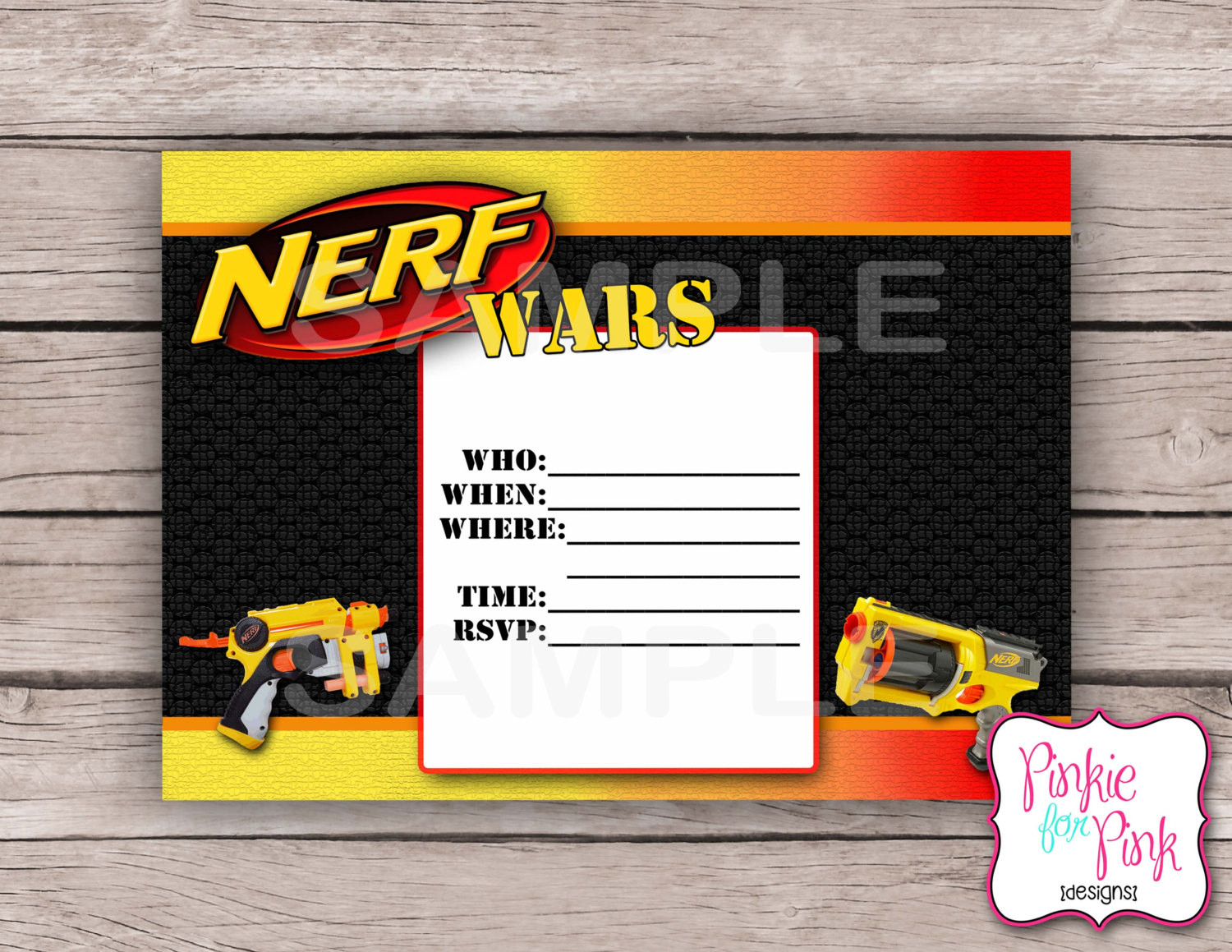 Best ideas about Nerf War Birthday Party Invitations . Save or Pin INSTANT Download Nerf Wars Invitation Birthday by Now.
