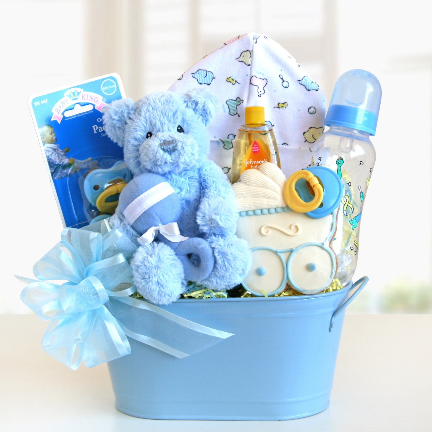 Best ideas about New Baby Boy Gift Ideas . Save or Pin Sweet and Cuddly Baby Boy Gift Basket Gift Baskets Plus Now.