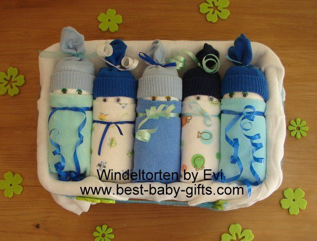 Best ideas about New Baby Boy Gift Ideas . Save or Pin diaper babies in a box for baby boy with instructions Now.