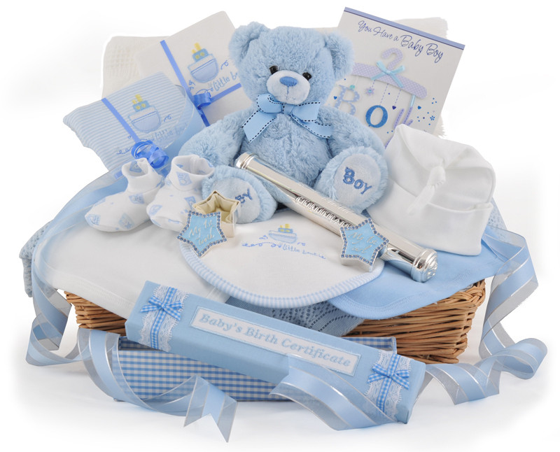 Best ideas about New Baby Boy Gift Ideas . Save or Pin Supreme Deluxe Baby Boy Gift Basket At £99 99 Now.
