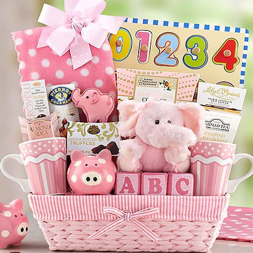 Best ideas about New Baby Girl Gift Ideas . Save or Pin New Baby Girl Basket Now.