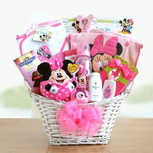 Best ideas about New Baby Girl Gift Ideas . Save or Pin Minnie Mouse Baby Girl Gift Basket Now.