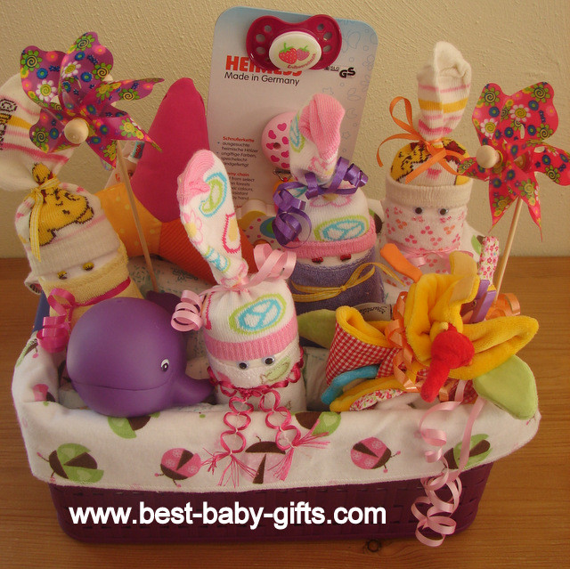 Best ideas about New Baby Girl Gift Ideas . Save or Pin Newborn Baby Gift Baskets how to make a unique baby t Now.
