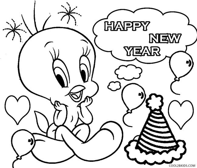 Best ideas about New Years Printable Coloring Sheets . Save or Pin Printable New Years Coloring Pages For Kids Now.