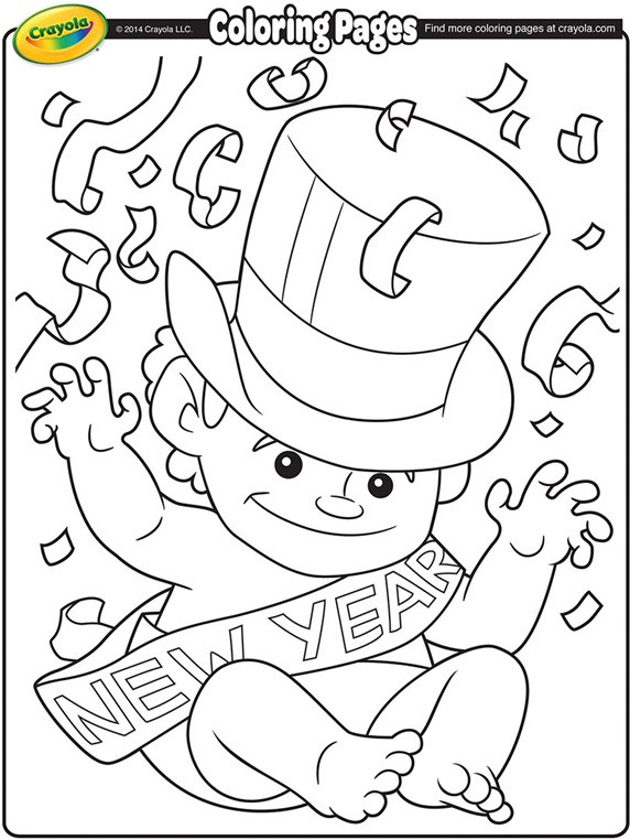 Best ideas about New Years Printable Coloring Sheets . Save or Pin Baby New Year Coloring Page Now.
