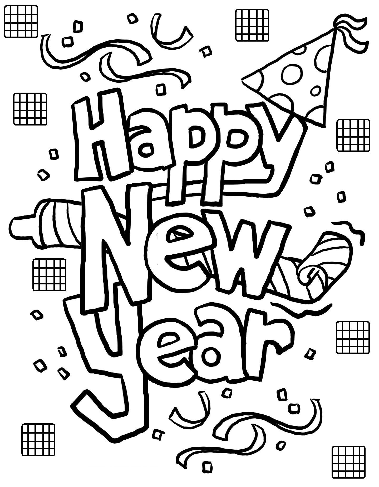 Best ideas about New Years Printable Coloring Sheets . Save or Pin Free Printable New Years Coloring Pages For Kids Now.