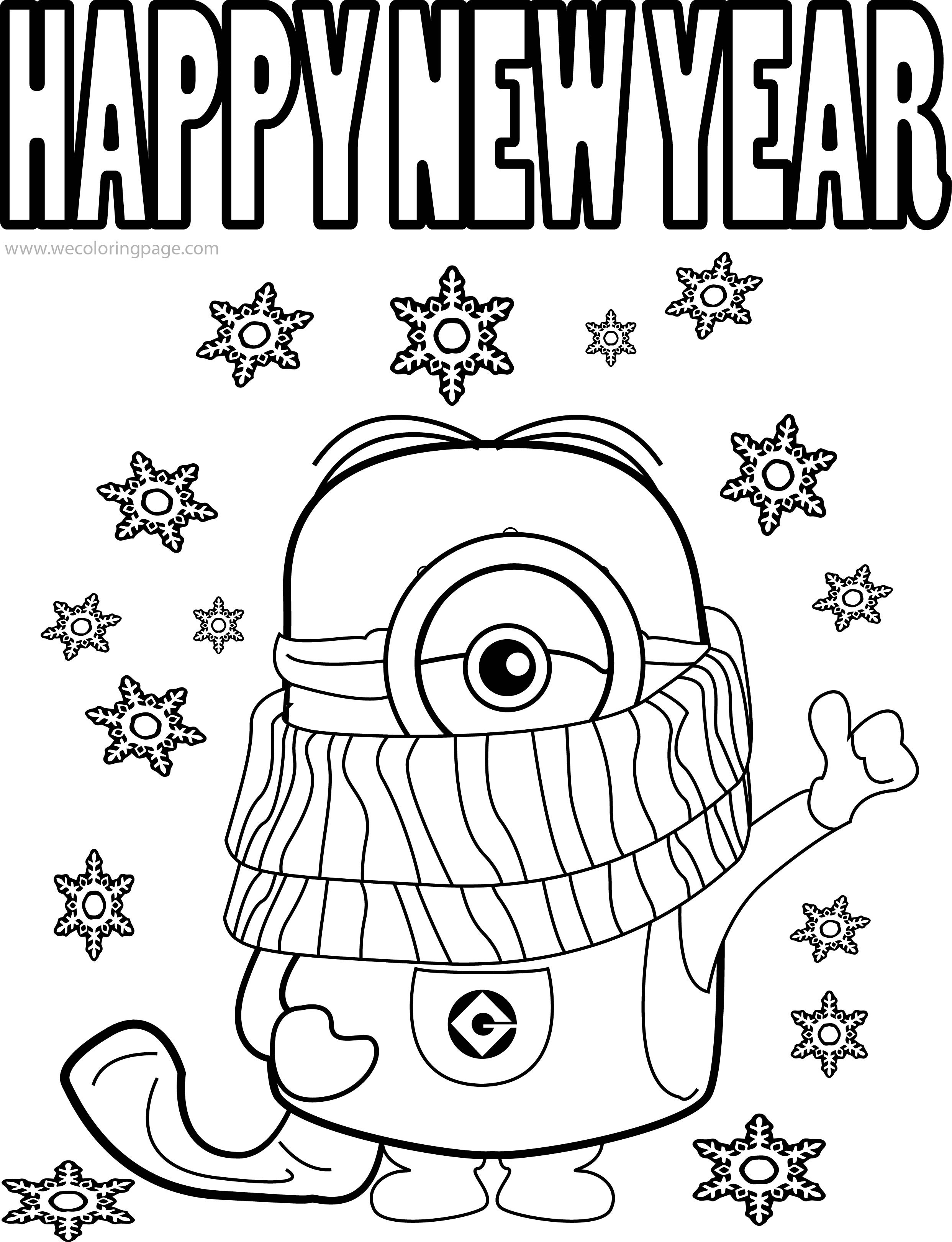 Best ideas about New Years Printable Coloring Sheets . Save or Pin Happy New Year 2019 Coloring Pages HD Printable s Now.