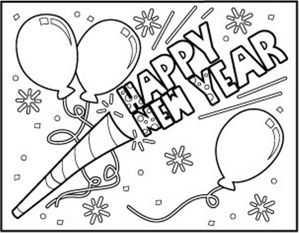 Best ideas about New Years Printable Coloring Sheets . Save or Pin Happy New Year Coloring Pages Coloring Home Now.