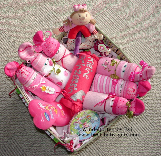 Best ideas about Newborn Baby Girl Gift Ideas . Save or Pin Newborn Baby Gift Baskets how to make a unique baby t Now.