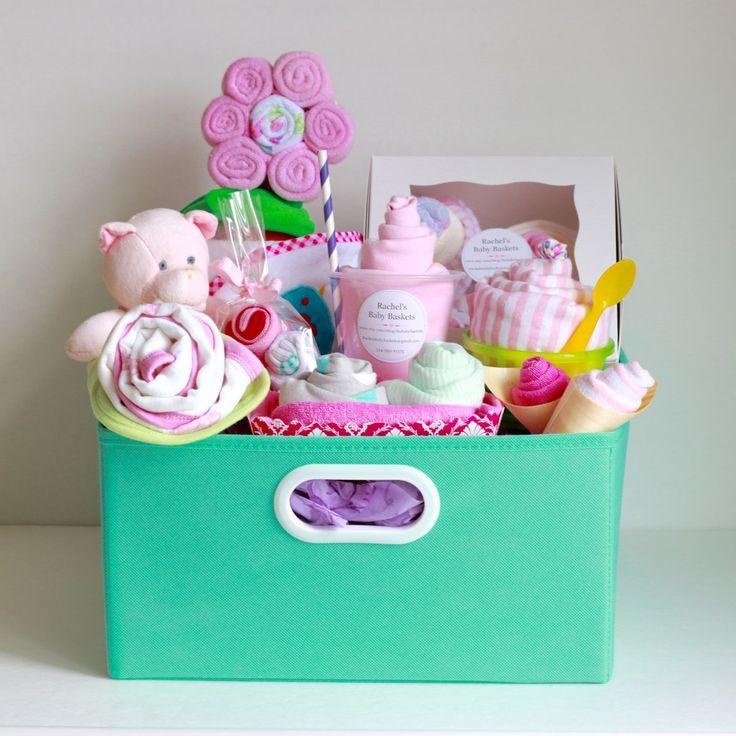 Best ideas about Newborn Baby Girl Gift Ideas . Save or Pin 17 Best ideas about Baby Gift Baskets on Pinterest Now.