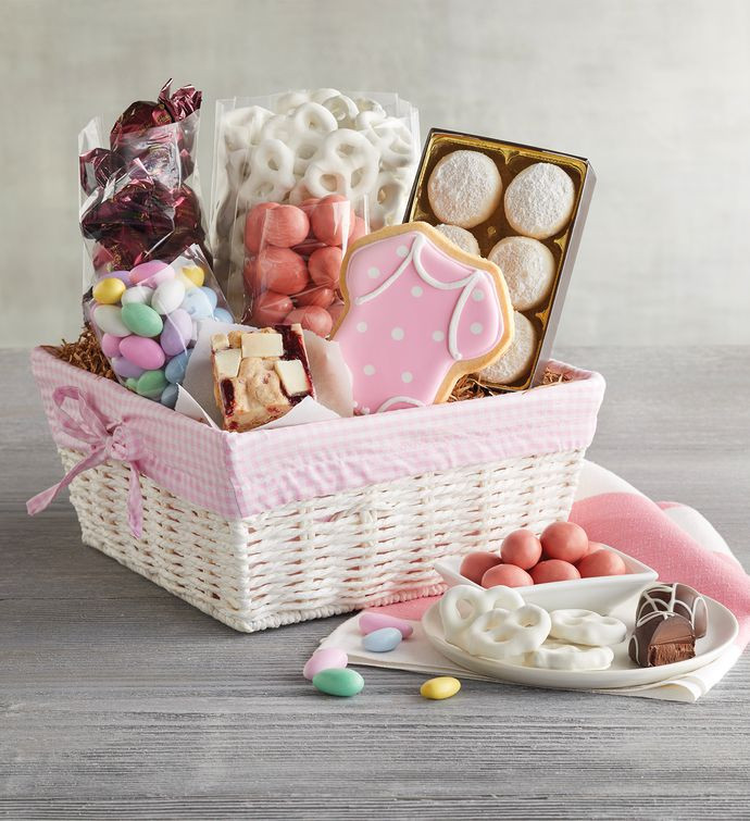 Best ideas about Newborn Baby Girl Gift Ideas . Save or Pin New Baby Girl Gift Basket Now.
