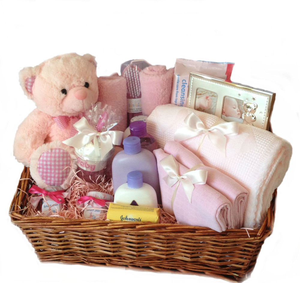 Best ideas about Newborn Baby Girl Gift Ideas . Save or Pin Baby Girl Hamper New baby ts nappy cakes and Now.
