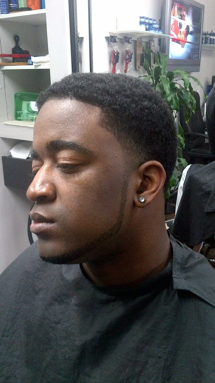 Best ideas about Nice Haircuts For Black Guys . Save or Pin Afro Taper Fade with Beard Lining Now.