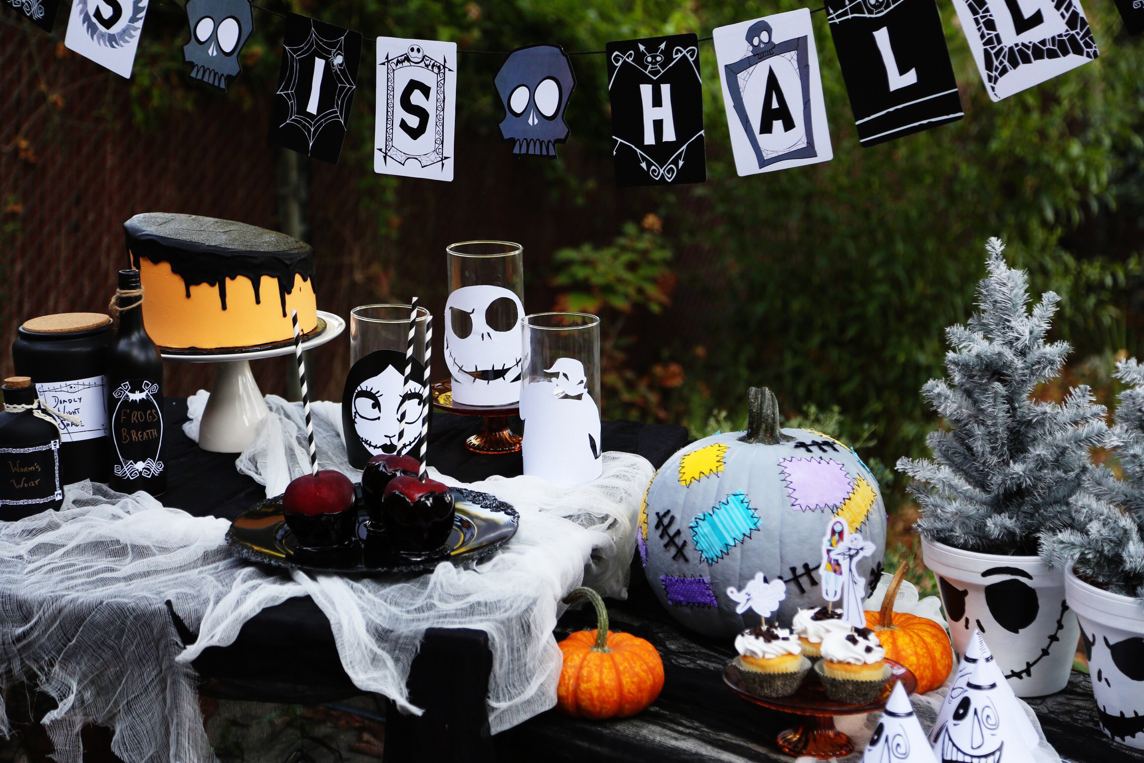 Best ideas about Nightmare Before Christmas Birthday Decorations . Save or Pin The Nightmare Before Christmas Party Now.