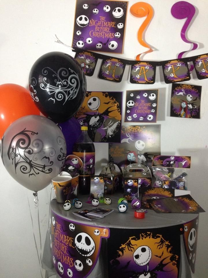 Best ideas about Nightmare Before Christmas Birthday Decorations . Save or Pin The Nightmare Before Christmas happy birthday party pack Now.