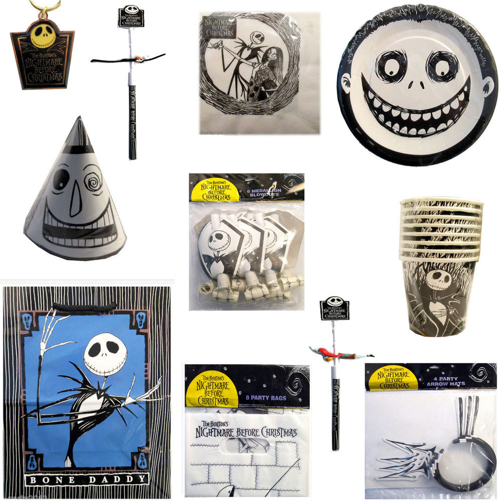 Best ideas about Nightmare Before Christmas Birthday Decorations . Save or Pin NIGHTMARE BEFORE CHRISTMAS Birthday Halloween Party Now.