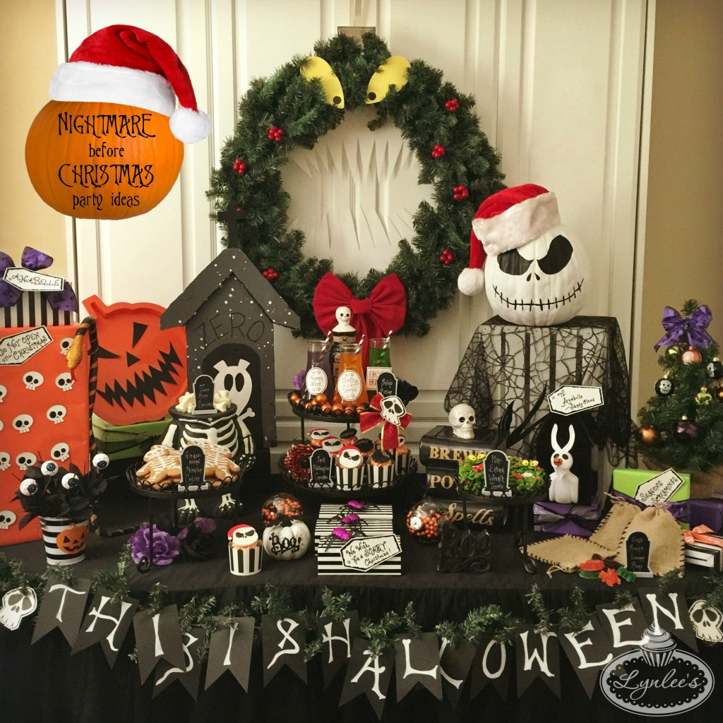 Best ideas about Nightmare Before Christmas Birthday Decorations . Save or Pin Nightmare Before Christmas Party Ideas — Lynlees Now.