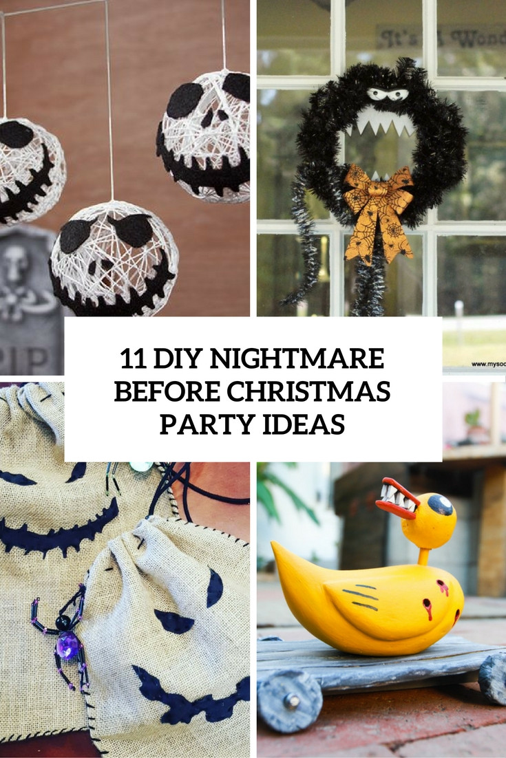 Best ideas about Nightmare Before Christmas Birthday Decorations . Save or Pin 11 DIY Nightmare Before Christmas Halloween Party Ideas Now.