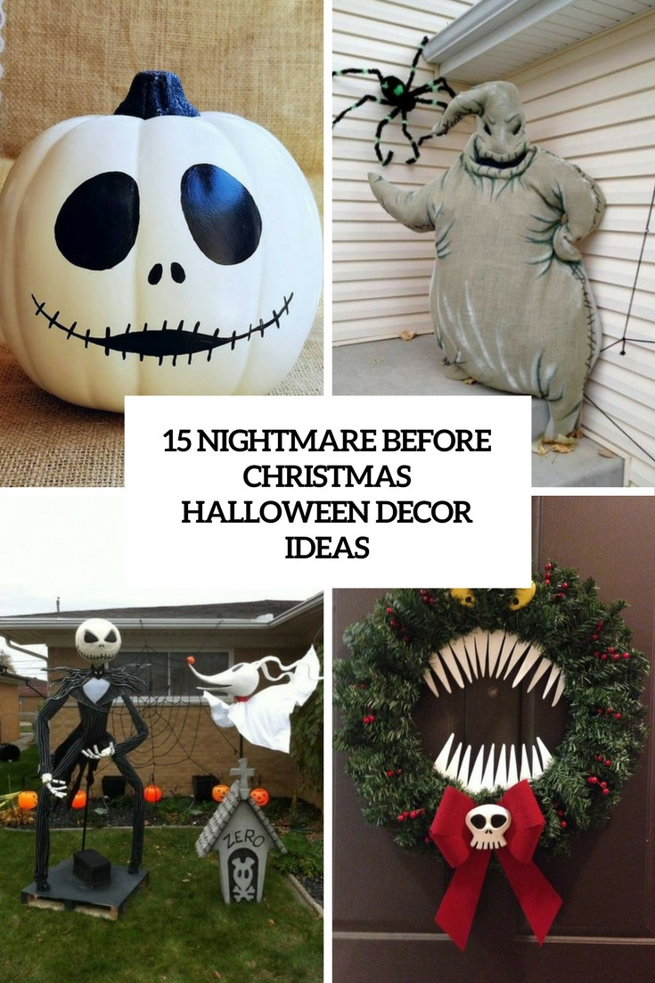 Best ideas about Nightmare Before Christmas Decorations DIY . Save or Pin 15 Nightmare Before Christmas Halloween Decor Ideas Now.