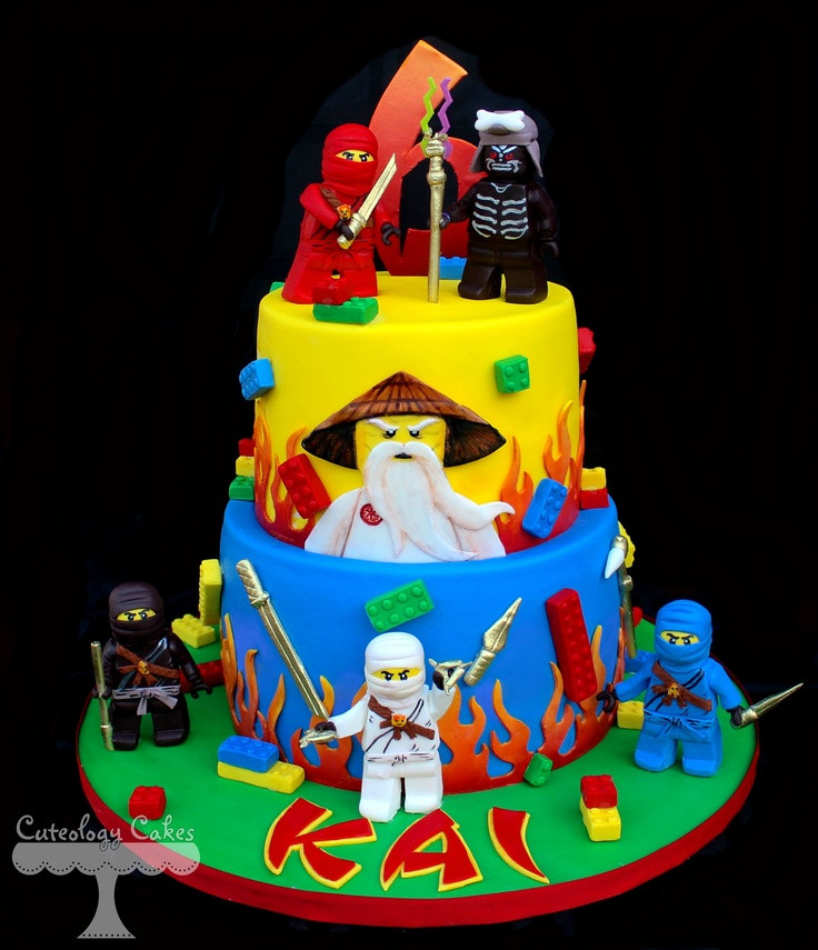 Best ideas about Ninjago Birthday Cake . Save or Pin Lego Ninjago Cake with fondant Ninjago characters legos Now.