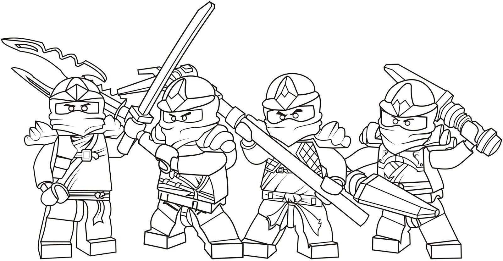 Best ideas about Ninjago Coloring Pages For Kids . Save or Pin Ninjago Ninjas Coloring Coloring Pages Now.