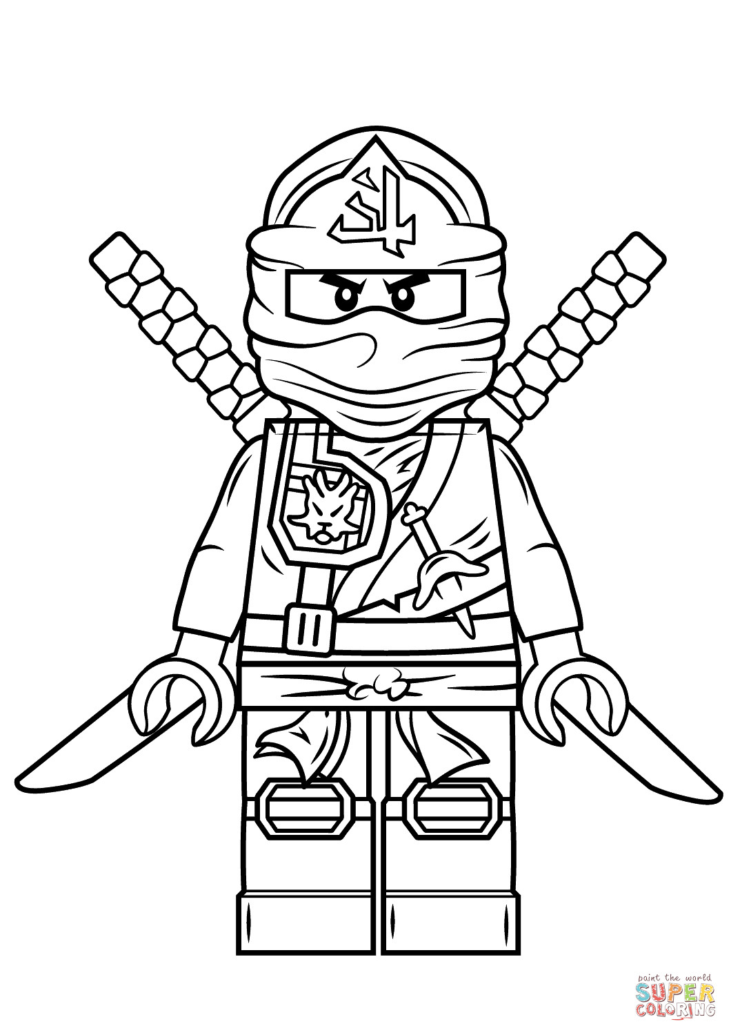Best ideas about Ninjago Coloring Pages For Kids . Save or Pin Lego Ninjago Green Ninja Super Coloring Now.
