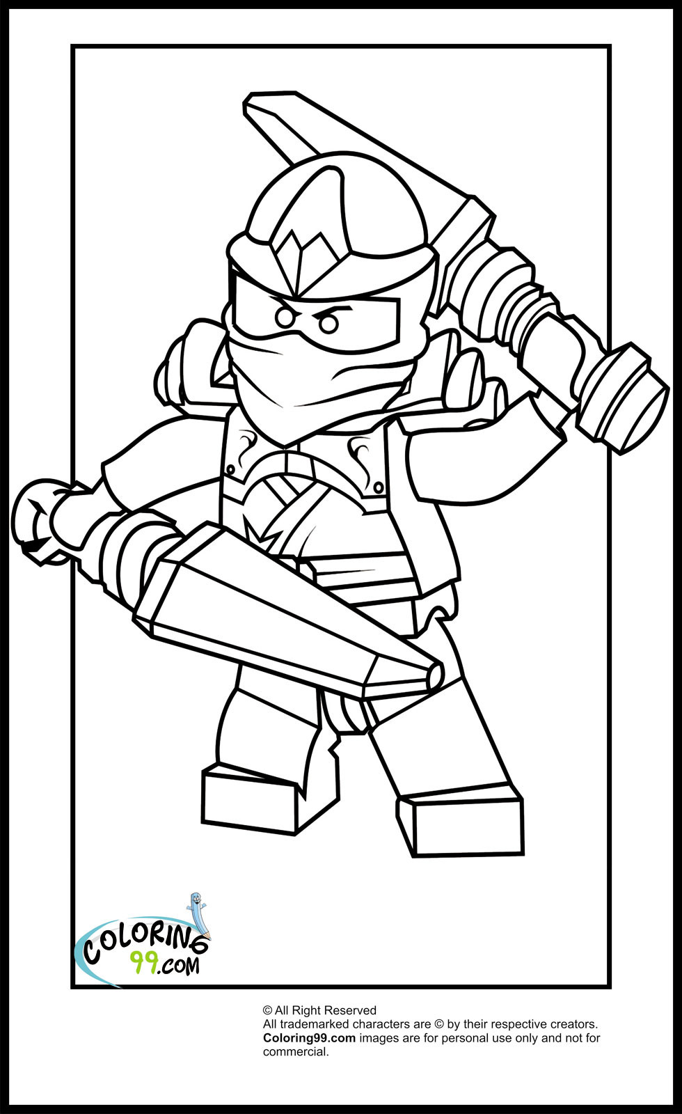 Best ideas about Ninjago Coloring Pages For Kids . Save or Pin LEGO Ninjago Kai Coloring Pages Now.