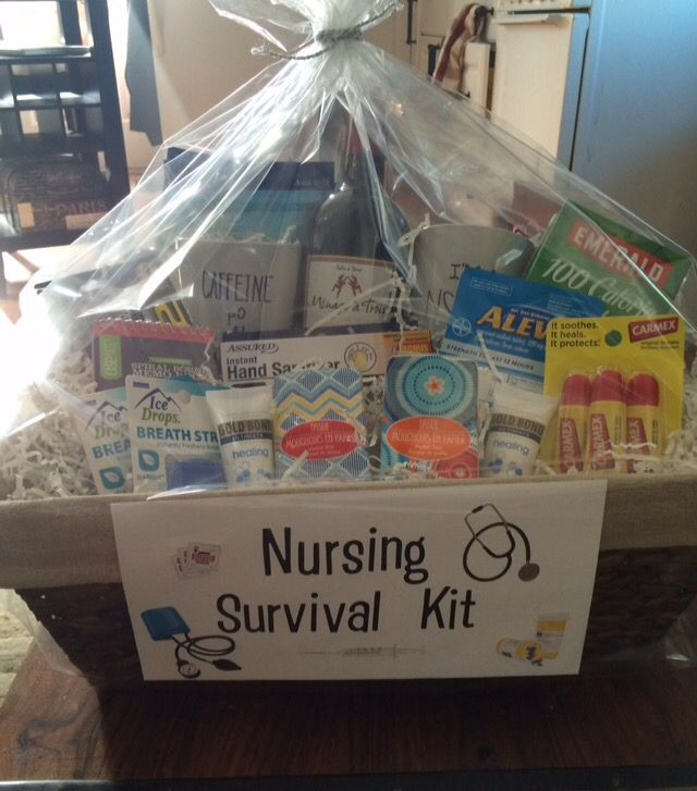 Best ideas about Nurse Gift Basket Ideas . Save or Pin Nurse graduation t basket Everything a new nurse will Now.