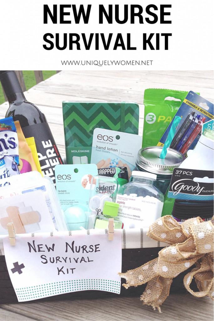 Best ideas about Nursing School Graduation Gift Ideas . Save or Pin Nurse Graduation Gift DIY Gift Basket Now.